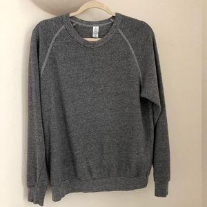 Alternative grey pullover sweatshirt